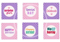 Printable Girls Birthday Cupcake Toppers, Tags, Cards, Stickers, Scrapbooks by sssstudio,