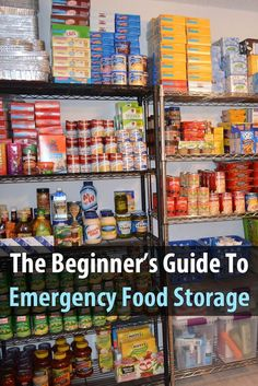 If you're new to food storage, you need to read this. It explains where to store food, what kind of foods to store, and how to store them. via - Tap the link to see the newly released survival collections for tough survivors out there! Emergency Food Storage, Emergency Preparedness Kit, Emergency Preparation, Emergency Food Supply, Emergency Water, Hurricane Preparedness, Emergency Planning, Urban Survival, Survival Food