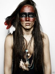 Willy Cartier as a native American.