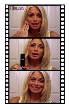 Skin prep for makeup by fitness model Dianna Dahlgren