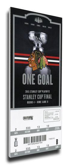 2015 NHL Stanley Cup Final Game 4 Canvas Mega Ticket - Chicago Blackhawks
