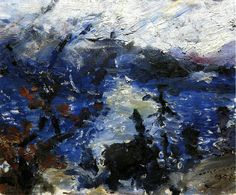 The Walchensee, Mountains Wreathed in Cloud, 1925 - Lovis Corinth