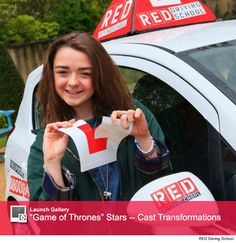 Maisie Williams passes her driving test with RED!