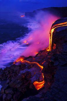 Lava Flow, Hawaii, USA.