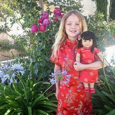 Happy Chinese New Year! And Happy Birthday to me! My nieces are taking me to American Girl today. This photos is from 2014. The cheongsam dress Emily is wearing has been handed down a few generations and will move to the next girl in our family. Fun Fact: My Aunt is Chinese. #agigthrowbackweek