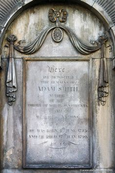 This is Adam Smith's grave in Edinburgh. This guide to 24 hours in Edinburgh, Scotland will show you Edinburgh hotels, Edinburgh spas, the best things to do in Edinburgh, places to eat in Edinburgh, and more. This is one of the best places to visit in Scotland. #edinburgh Edinburgh Hotels, Edinburgh Travel, Edinburgh Castle, Edinburgh Scotland, Places To Eat, Cool Places To Visit, Edinburgh Photography, Spas