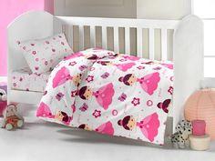 Brielle Toddler Duvet/Quilt Cover Set Bedding Set 100% Ranforce Cotton Turkish Cotton Comforter Cover Toddler Baby Bedding Sheet Set 3 Pieces 454 V1 (white pink princess) //Price: $18.25 & FREE Shipping //     #hashtag4