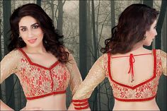 Ribbons-And-Lace-Blouse-Front-Neck-Designs.jpg (720×480)