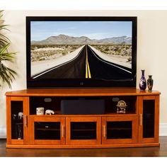 Plateau Newport 80 in. Corner Wood TV Stand - Walnut Finish - NEWPORT 80 (W)