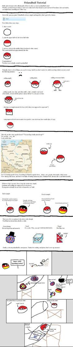 英語ネットスラングの備忘録blog: ポーランドボールの続き Polandballのルール