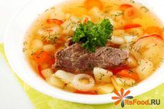 Суп с говядиной и тостами в мультиварке http://ricettio.com/recipe-1696-sup-s-govyadinoy-i-tostami-v-multivarke  Простенький суп из говядины не требует предварительной варки бульона. Поэтому общее время на приготовление значительно сокращается. К тому же подача с тостами вместо хлеба более оригинальна. На тост можно положить кружочек свежего помидора и немного смазать майонезом или сметаной. Если вы не любите чеснок или опасаетесь запаха, то можно тосты им не натирать.