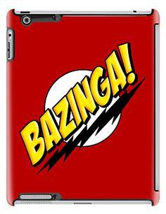 Funny Cool BAZINGA Sheldon Cooper Big Bang Theory Typograph apple iPad 2, iPad 3 iPad mini case - iPad Cases by Pointsale Project | Redbubble