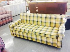Love This Plaid Couch At Jubilee Furniture  Only $75!
