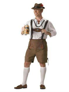 Octoberfest Lederhosen Adult Halloween Costume, In Character 1038