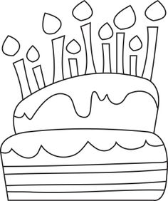 35 Ideas birthday cake drawing cute for 2019 Cartoon Birthday Cake, Boss Birthday Gift, Image Birthday Cake, Cute Birthday Cakes, Birthday Gifts For Girls, Birthday Cards, Birthday Bash, Birthday Chair, Birthday Parties