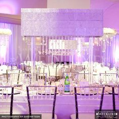 lavender lighting #wedding #lighting