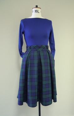 Rock the Tartan.....Pleat Midi, hand made and super lovely! xx