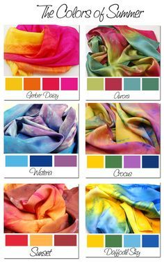 I want some of these scarves! So pretty! Colors-of-Summer