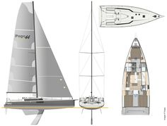 Not really an expedition yacht but so exciting! New - Pogo announces the arrival of the Pogo 44 - 29950 Bénodet, France Yacht Design, Boat Design, Expedition Yachts, Sailboat Living, Deck Steps, Shower Cabin, Big Windows, Sailing Yachts, Sailing Boat