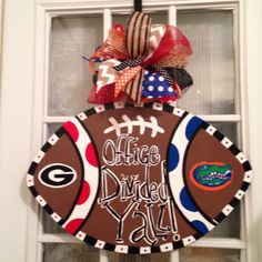 House Divided Yall Georgia Bulldogs and Florida Gators Office Door Hanger