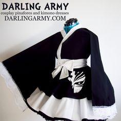 Ichigo Bankai Bleach Cosplay Kimono Dress by DarlingArmy.deviantart.com on @DeviantArt