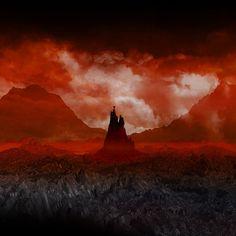 Tolkien Mordor Lord of the Rings BaradDur dark by TimlabArt, $50.00