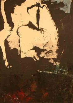 """Hassel Smith, #15, 1961, Oil on canvas, 68"""" x 48"""""""