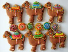 decorated camel cookies