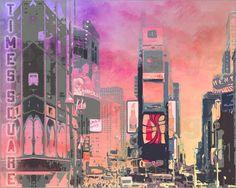 City Art NY Times Square II Bilder: Poster von Melanie Viola bei Posterlounge.de