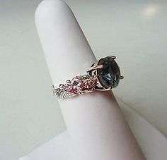 Mesmerizing Antique Style Aquamarine Mermaid Ring by LaPlumeNoir