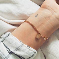Tiny Anchor Tattoo On Left Wrist : Anchor Tattoos Wrist Tattoos For Women, Small Wrist Tattoos, Tattoos For Women Small, Ankle Tattoo Small, Ankle Tattoos, Dainty Tattoos, Trendy Tattoos, Cute Tattoos, Finger Tattoos