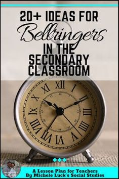 Great ideas and tips for using bellringers in the secondary classroom. Perfect to start with back to school and to use all through the school year! Back To School Highschool, Middle School, Teaching Strategies, Teaching Ideas, Teaching Resources, Instructional Strategies, Classroom Resources, Back To School Bulletin Boards, Back To School Organization