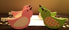 2 sets of Wooden Birdie Curtain  Hold Backs. $55.00, via Etsy.