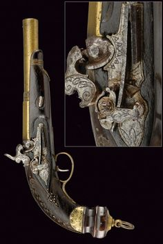 A miquelet percussion pistol: provenance: Naples dating: mid-19th Century