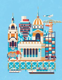 The city of Nantes in a nutshell by Almasty Paris Illustration, Travel Illustration, Plan Ville, Nantes France, City Maps, Urban Sketching, Vintage Travel Posters, Art Direction, Illustrations Posters