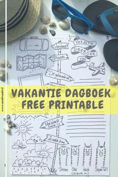 Yes de vakantietijd is aangebroken! Niets leuker om de mooie herinneringen van die dagen vast te leggen in een vakantieboek. Maar ja, niet iedereen heeft zin of tijd om een leeg vel hiermee te vullen. Hier is de oplossing: een vakantieboek printable. Een freebie die je heel simpel, snel en gratis kan downloaden #bulletjournal #reisdagboek #printable #kidsdiy #reisverslag #vakantie #traveljournal #freebie