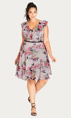 129bdd4e359f66 Get a little romance in your look with the Romance Ruffle Dress. Key  Features Include