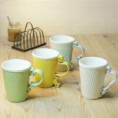 Corrugated And Curly Ceramic Mug