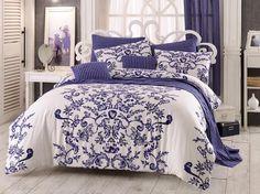 Royal pamut ágynemű, kék, 140 x 200 cm, 70 x 90 cm Room, Duvet Sets, Interior, Home, Natural Bedding, Bed, Duvet Cover Sets, Duvet Covers, Interior Design