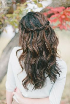 Pull Through Braid for Half Up Half Down Hairstyles