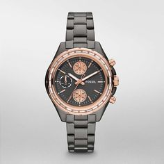 FOSSIL® Watch Styles Rose Watches:Women Dylan Stainless Steel Watch – Smoke with Rose CH2825