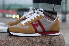 Karhu sneakers from Finland Karhu is a little-known Finnish label, established in Finland in 1916, that makes amazing running shoes. Its logo is a bear. Karhu means, in fa... http://peppinopeppino.com/karhu-sneakers-from-finland/