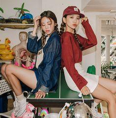Asian Fashion, Look Fashion, Girl Fashion, Fashion Outfits, Classy Teen Fashion, J Pop, Hello Kitty Dress, Korean Best Friends, Parisian Chic Style