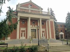 The National Shrine of St. Maximilian Kolbe on Route 176 is better known as Marytown. It is a ministry of the Conventual Franciscans Friars of St. Bonaventure province.