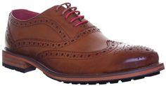 Justin Reece Oliver Mens Leather Matt Shoes - Brown