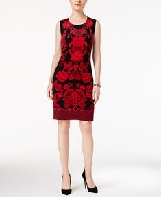 Image 1 of JM Collection Petite Printed A-Line Dress, Created for Macy's