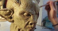 Satanasio, escultura en barro paso apaso