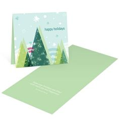 Picturesque Winter - Vintage Christmas Cards. The stage is set - evergreen trees, snowflakes and a winter scene that captures the beauty of the season. These vintage Christmas cards capture the essence of winter and send it to loved ones with your personal message. With stylish images and unique colors, your modern side will shine, too!. Price: $108.68