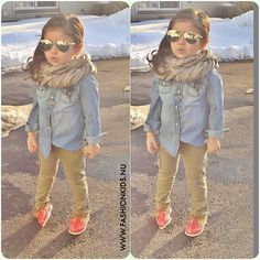 I like the outfit but the shoes make it even more cute. Little Girl Outfits, Cute Outfits For Kids, Little Girl Fashion, Toddler Outfits, Cute Kids Fashion, Toddler Fashion, Outfits Niños, Baby Outfits, Toddler Girl Style