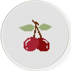 FREE for August 24th 2015 Only - Cherry Cross Stitch Pattern